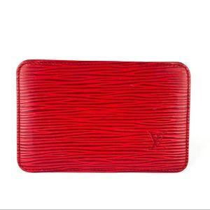 Louis Vuitton Epi Leather Card Holder Wallet